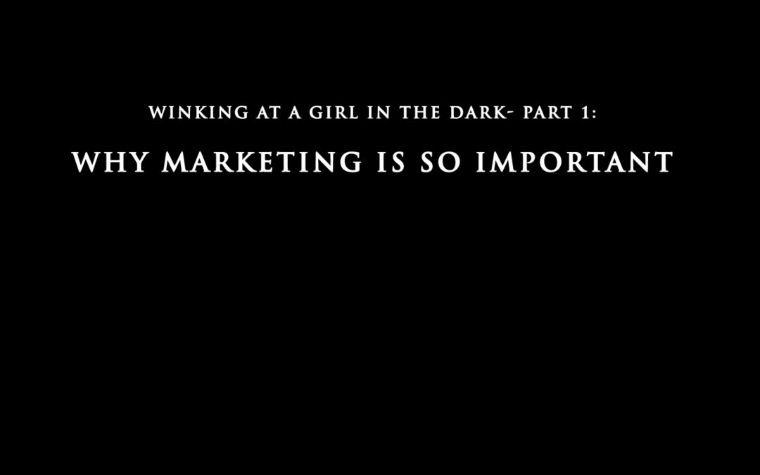 Winking at a Girl in the Dark- Part 1: Why Marketing is So Important