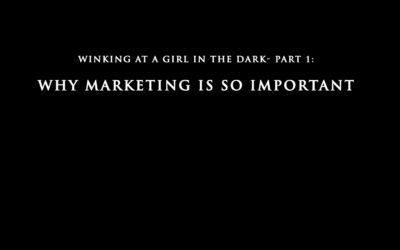 Winking at a Girl in the Dark- Part 1: Why is Marketing So Important