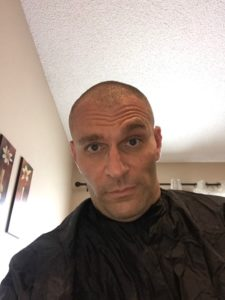 David Pasqualone after daughter and son cut his hair