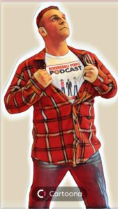 David-Pasqualone-Host-of-the-Remarkable-People-Podcast cartoon funny