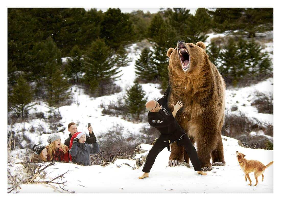 Danny Covey Wrestling a Grizzly Bear